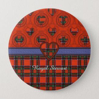 Badge Rond 10 Cm Tartan royal d'écossais de plaid de clan de