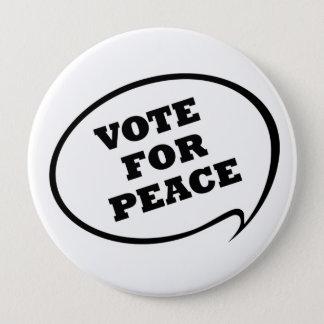 Badge Rond 10 Cm Vote pour le bouton de blanc de paix