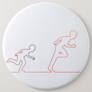Badge Rond 15,2 Cm Ambition d'enfance de garçon et chasse de ses