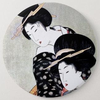 Badge Rond 15,2 Cm Art traditionnel japonais oriental frais de geisha