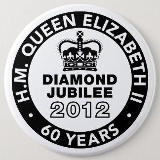 Badge Rond 15,2 Cm Bouton commémoratif de jubilé de diamant