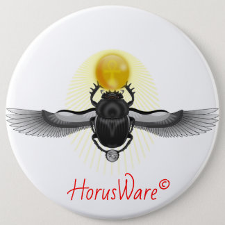 Badge Rond 15,2 Cm Bouton de scarabée de scarabée à ailes par