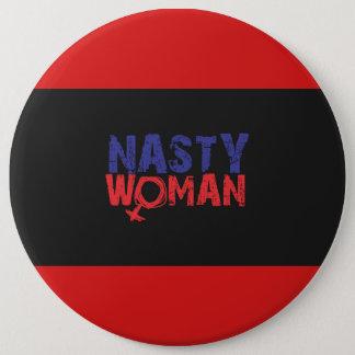 Badge Rond 15,2 Cm Bouton méchant de femme