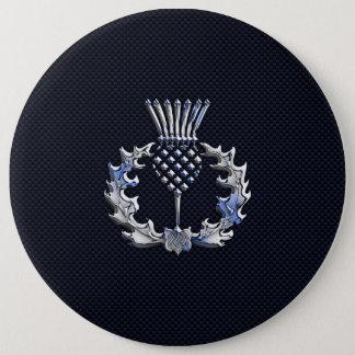 Badge Rond 15,2 Cm Chrome comme sur le chardon d'écossais