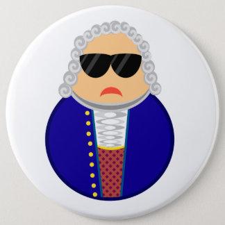 Badge Rond 15,2 Cm Compositeur drôle de Johann Sebastian Bach