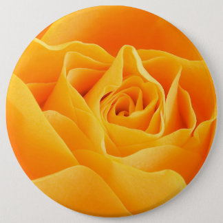 Badge Rond 15,2 Cm Fleur rose de floraison, pétales - jaune