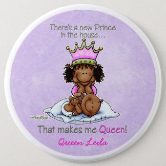Badge Rond 15,2 Cm Grande soeur d'Afro-américain de prince