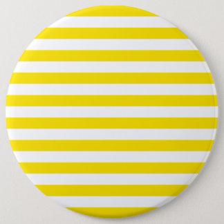 Badge Rond 15,2 Cm Rayures jaunes horizontales