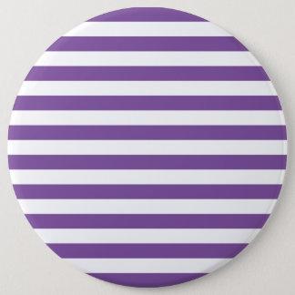Badge Rond 15,2 Cm Rayures pourpres horizontales