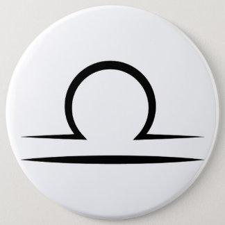 Badge Rond 15,2 Cm symbole grec d'horoscope d'astrologie de zodiaque