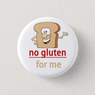 Badge Rond 2,50 Cm Alerte d'allergie de gluten