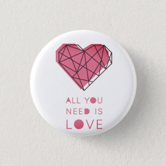 Badge Rond 2,50 Cm Amour
