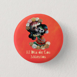Badge Rond 2,50 Cm Amour maternel squelettique mexicain