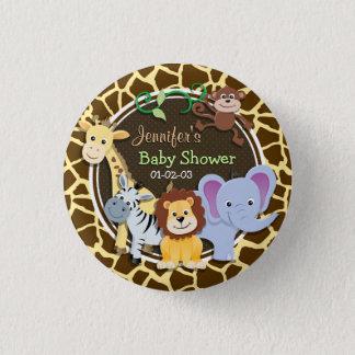 Badge Rond 2,50 Cm Animaux de jungle sur le poster de animal de