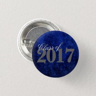 Badge Rond 2,50 Cm Année royale bleue d'azur de cobalt du diplômé |