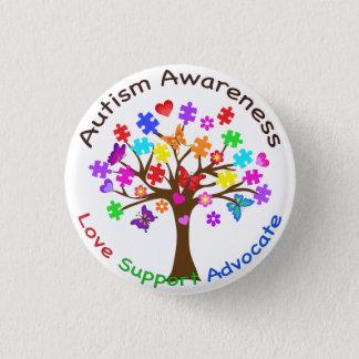 Badge Rond 2,50 Cm Arbre de sensibilisation sur l'autisme