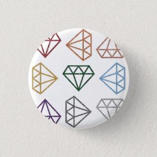 Badge Rond 2,50 Cm Arc-en-ciel renversant la goupille de diamants