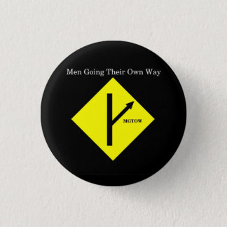 Badge Rond 2,50 Cm Arrière - plan Bouton-Petit-Noir de logo de MGTOW