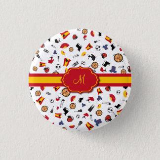 Badge Rond 2,50 Cm Articles espagnols avec le drapeau pour ajouter