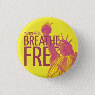 Badge Rond 2,50 Cm Aspirer à respirer librement