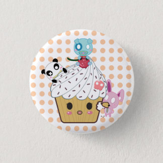 Badge Rond 2,50 Cm Attaque de petit gâteau ! (>_<)