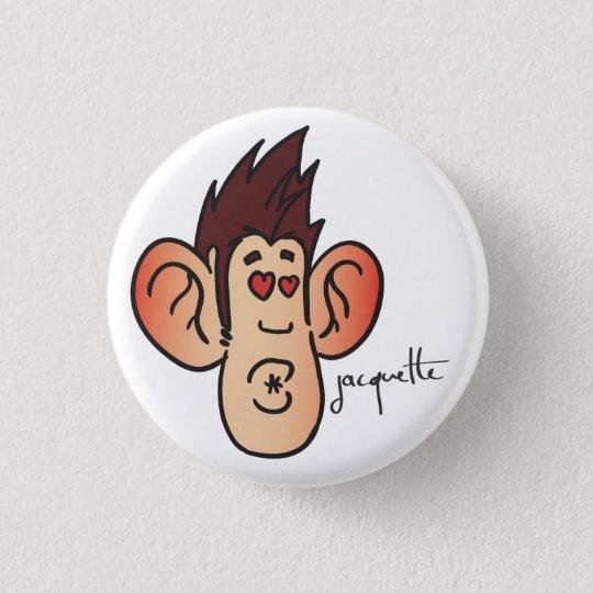 Badge Rond 2,50 Cm avatar jacquette bisou