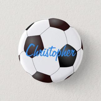 Badge Rond 2,50 Cm Ballon de football - personnalisable