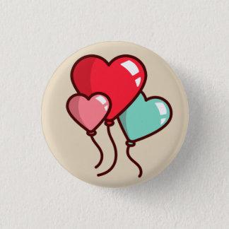 Badge Rond 2,50 Cm Ballons de coeur