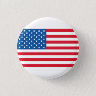 Badge Rond 2,50 Cm Bannière étoilée de drapeau des Etats-Unis