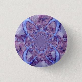 Badge Rond 2,50 Cm Beau kaléidoscope pourpre coloré