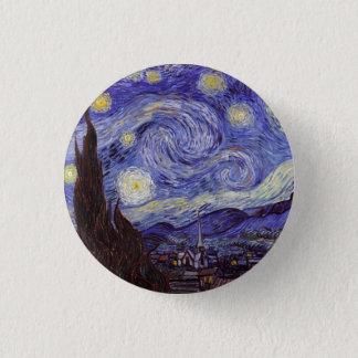 Badge Rond 2,50 Cm Beaux-arts de cru de nuit étoilée de Vincent van