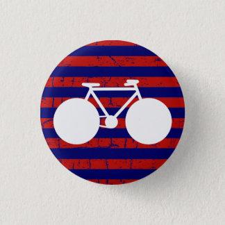 Badge Rond 2,50 Cm bicyclette blanche barrée