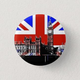 Badge Rond 2,50 Cm Big Ben et Union Jack