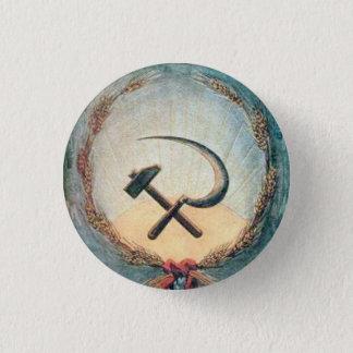 Badge Rond 2,50 Cm Blé de marteau et de faucille petit, 1 bouton rond