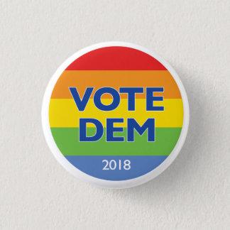 Badge Rond 2,50 Cm Bouton 2018 d'arc-en-ciel de DEM de vote
