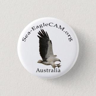 Badge Rond 2,50 Cm Bouton adulte de Mer-Eagle de vol