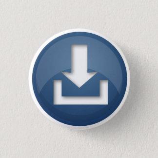 Badge Rond 2,50 Cm Bouton bleu de bouton