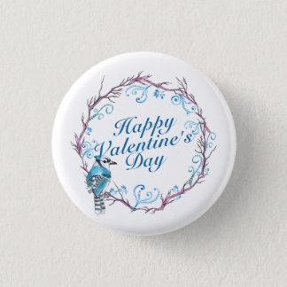 Badge Rond 2,50 Cm Bouton bleu de Pin de guirlande de Saint-Valentin