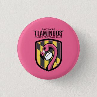 Badge Rond 2,50 Cm Bouton carré de flamants de Baltimore (rose)
