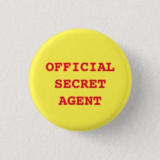 """Badge Rond 2,50 Cm Bouton """"d'agent secret/espion"""""""