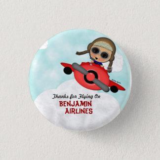 Badge Rond 2,50 Cm Bouton d'avion d'anniversaire