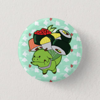 Badge Rond 2,50 Cm Bouton de dragon de sushi de vol