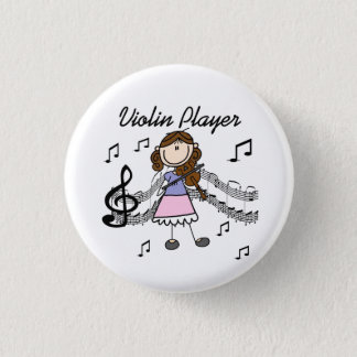 Badge Rond 2,50 Cm Bouton de joueur de violon de fille