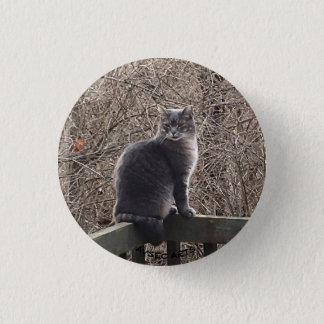 "Badge Rond 2,50 Cm Bouton ""de Kitty sauvage de garçon"""