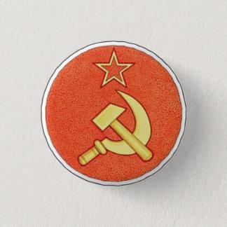 Badge Rond 2,50 Cm Bouton de marteau et de faucille