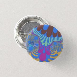 Badge Rond 2,50 Cm Bouton de mod d'arc-en-ciel bleu-clair petit