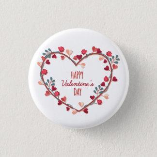 Badge Rond 2,50 Cm Bouton de Pin de la guirlande | de coeurs de