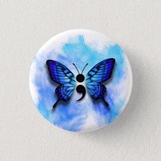 Badge Rond 2,50 Cm Bouton de point-virgule de papillon