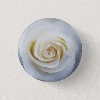 Badge Rond 2,50 Cm bouton de rose blanc