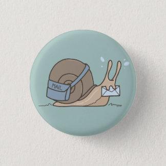 Badge Rond 2,50 Cm Bouton de snail mail
